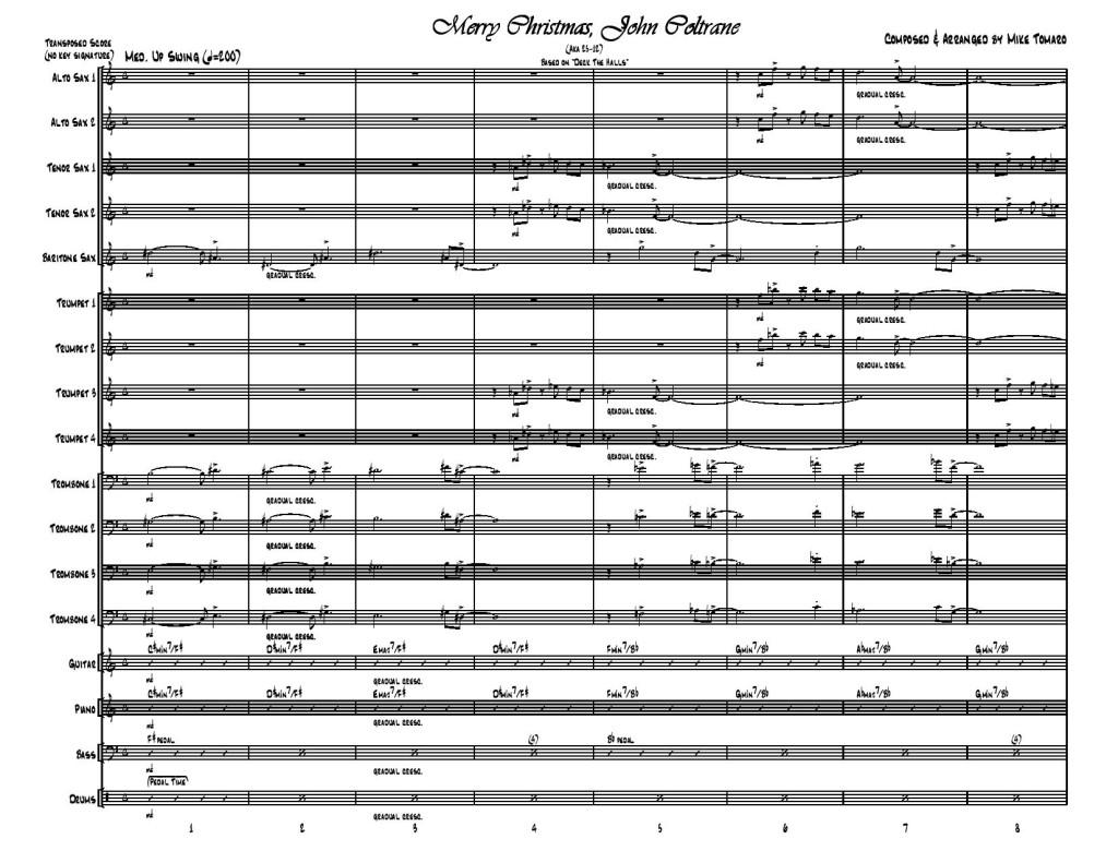Merry Christmas, John Coltrane-Score Page 1
